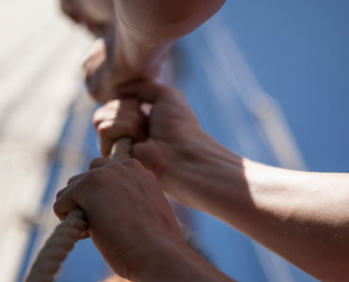 teambuilding zeilen op het IJsselmeer