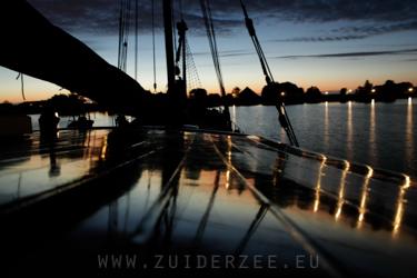 Avond voor anker Zuiderzee